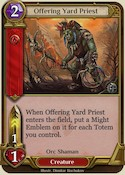 Offering Yard Priest